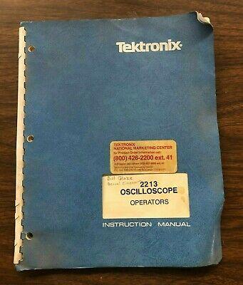 Tektronix 2213 Oscilloscope Operators Instruction Manual