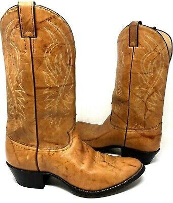 Justin Boots Marbled Deerlight Western Cowboy # 1632 USA Men's US 10 1/2 E  EUC