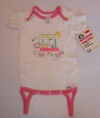 Vintage Gerber Baby Onesie size MEDIUM 19-26 pounds Lemondae Stand Bears Pink Vintage Baby Onesies