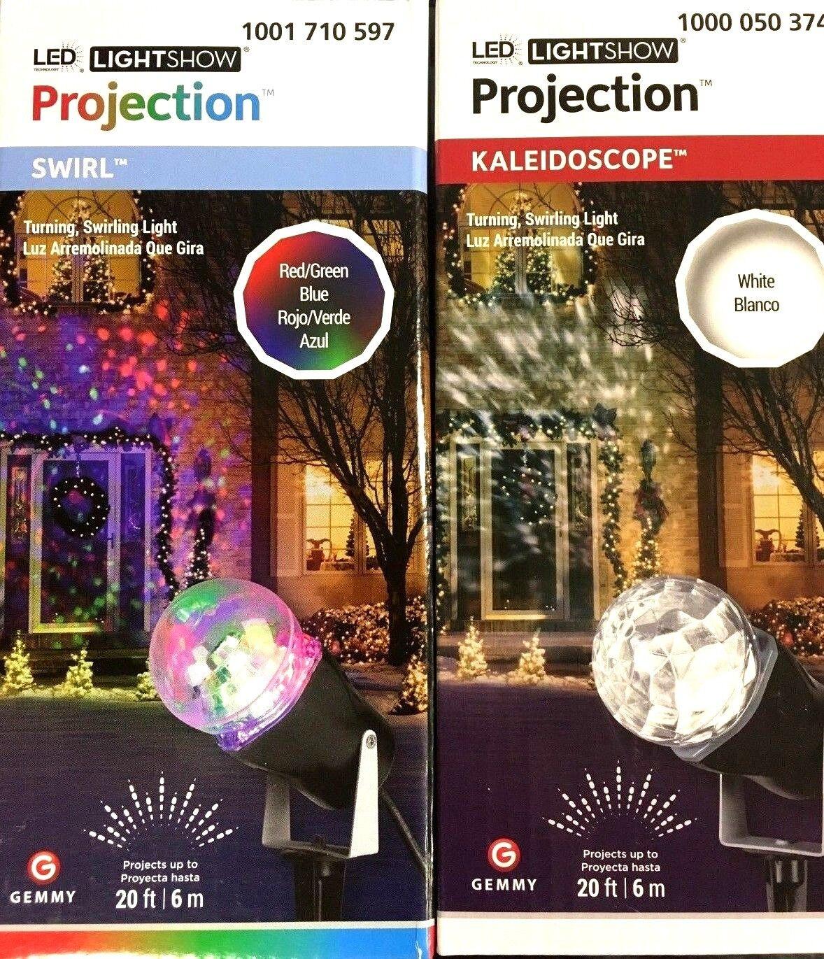 GEMMY Light Show Motion LED Spotlight Projector Patio Yard D