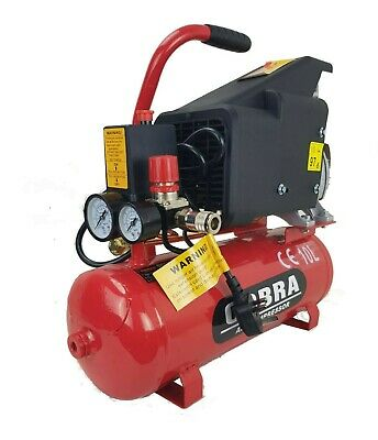 New Portable Cobra Air Tool Powerful Compressor 5.7 CFM 2 HP 115PSI 10L Liter