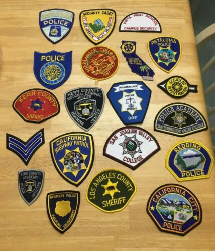 NICE LOT OF 20 CALIFORNIA  POLICE/SHERIFF PATCHES  K