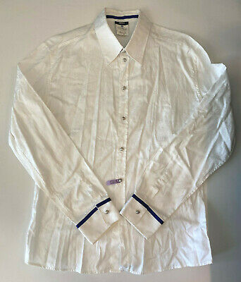 VERSUS VERSACE  Long sleeve mens button down dress shirt 44 56 White