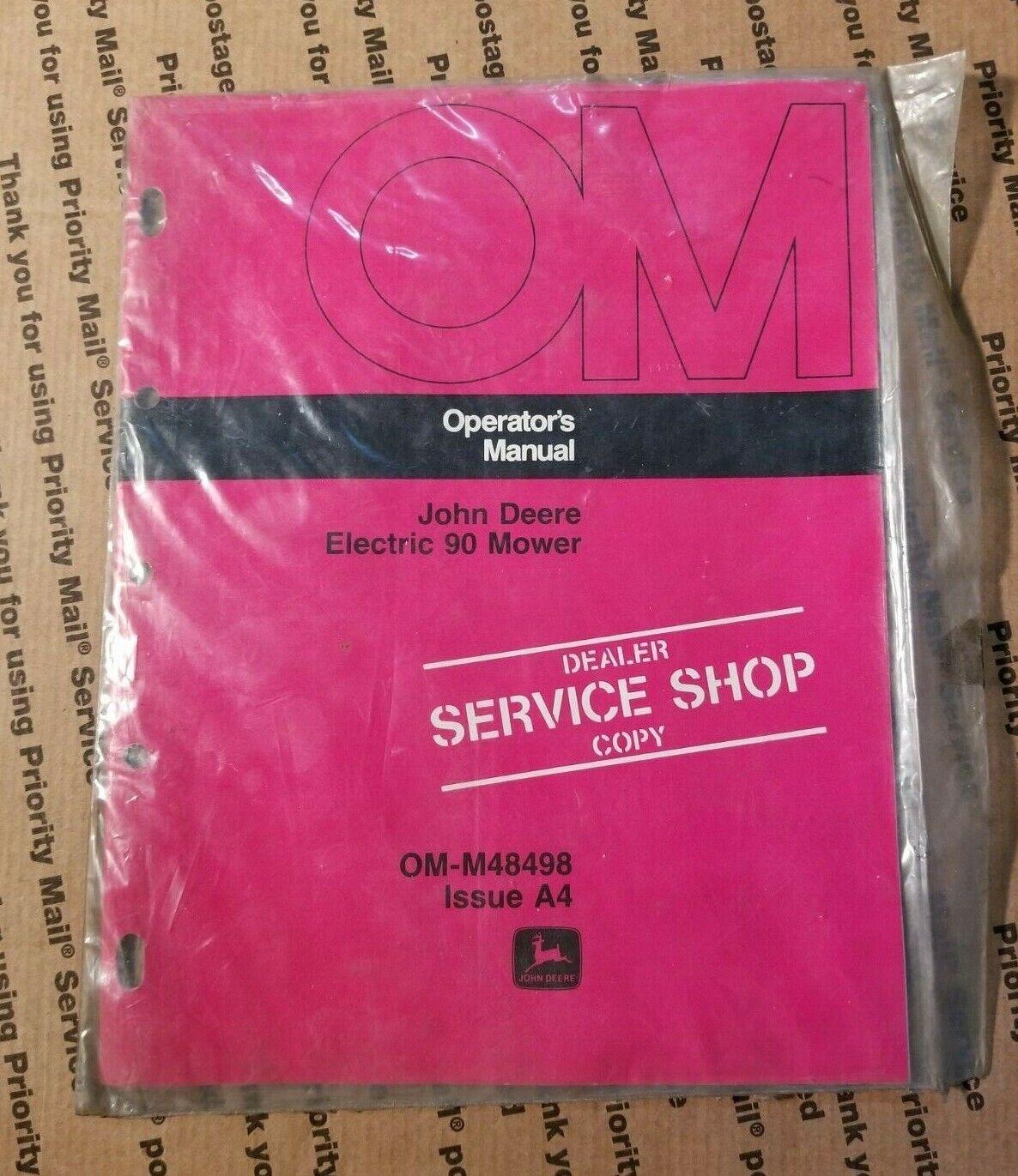 John Deere Electric 90 Mower Operators Manual Dealers Copy O