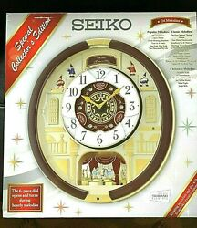 Seiko QXM554BRH Special Edition Melodies in Motion - Works Great!