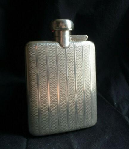 Antique English Sterling Silver Hip / Liquor Flask - Birmingham 1924