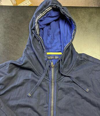 Nautica Men's Big and Tall Full-Zip Sweater Hoodie 4XLT 4XTG 4XT Blue