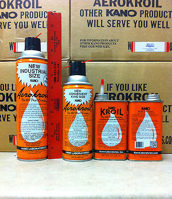 12 Cans Aero Kroil Penetrating Spray Kano 13 Oz Can King Size Aerokroil Jesco