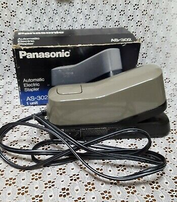 Vintage Panasonic Automatic Electric Stapler As-302 Vintage Heavy Duty-wbox