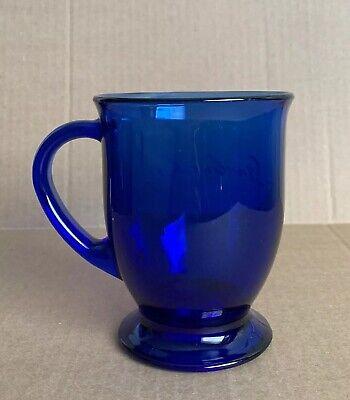 "Large Vintage Cobalt Blue Glass Anchor Hocking USA Coffee Mug Cup 5"" H ()"