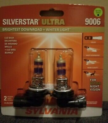 Sylvania SilverStar Ultra 9006 Dual Pack Halogen Bulbs Brand New/Sealed