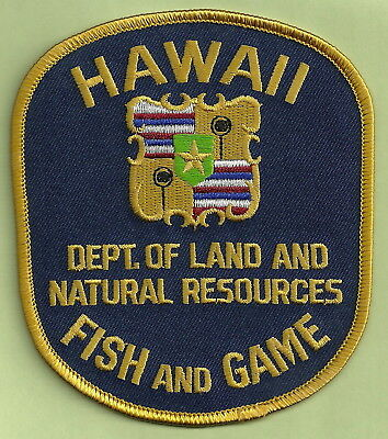 HAWAII DEPARTMENT OF NATURAL RESOURCES FISH & GAME POLICE PATCH