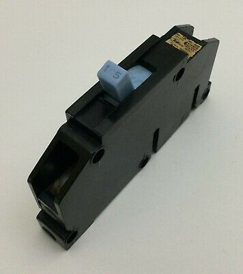Zinsco Magnetrip T115 15 Amp 1 Pole Circuit Breaker Blue Handle Type T Q115