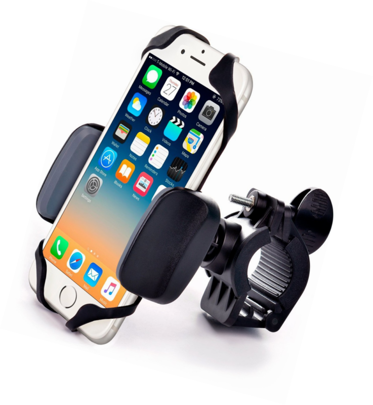 free shipping 7bed5 a094c Details about Metal Bike & Motorcycle Mount - For any Smartphone (iPhone 8  & X, Samsung, other