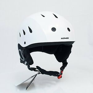 KOMBI BROMLEY Ski Snowboard Helmet White Matte Unisex. Mens Medium, Womens Large
