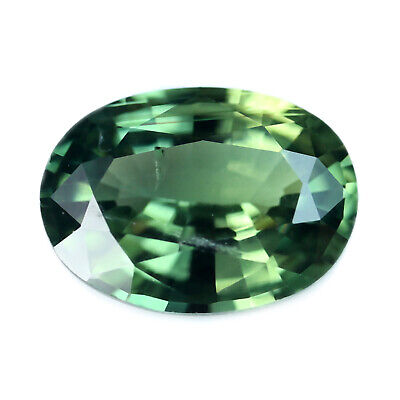 Certified Natural Green Sapphire 0.88ct VS Clarity Madagascar Oval 6.9x5.09 mm