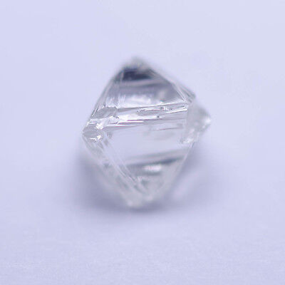 0.34 Carat WHITE (F) OCTAHEDRON DIAMOND NATURAL ROUGH UNTREATED