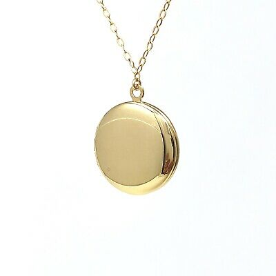 Round Gold Fill Locket Necklace also in Sterling Silver