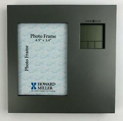 Howard Miller Picture Frame Tabletop Clock - Titanium-Finish, Large LCD Numerals