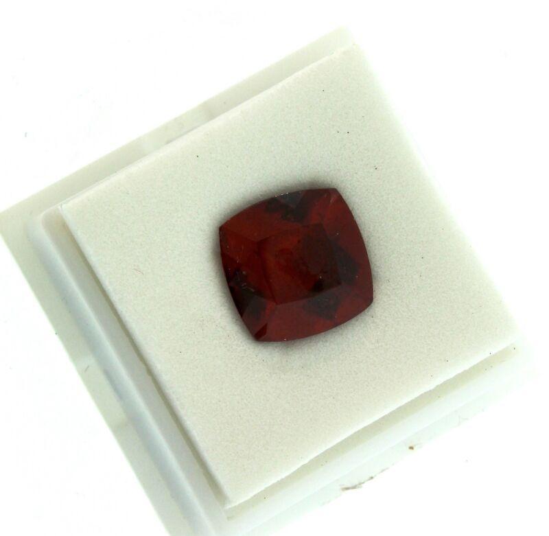 Cushion Cut 7.25 Carat 13x13mm HESSONITE GARNET Loose Gemstone $289
