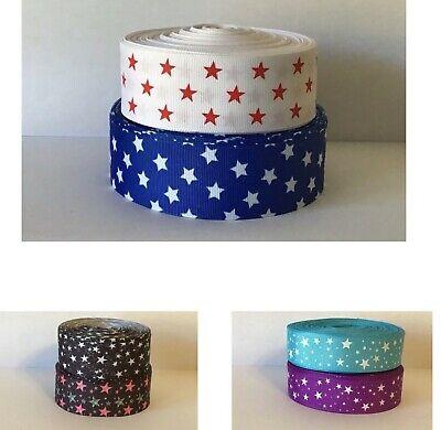 STARS design grosgrain ribbon - 22mm/25mm/38mm