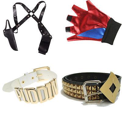 Quinn Kostüm Cosplay  Gürtel Halsband Handschuh Holster (Harley Quinn Kostüm Handschuhe)