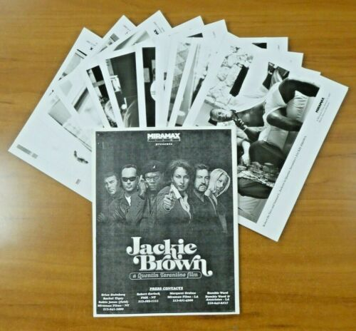 Jackie Brown Movie Press Kit Pam Grier Robert De Niro B. Fonda Booklet 13 Photos