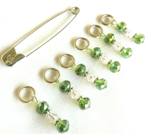 KNITTING STITCH MARKERS. HANDMADE. BEADED. ACCESSORIES. TOOLS  #135