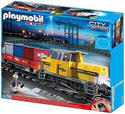 PLAYMOBIL® 5258 Neuer RC Güterzug Zug Eisenbahn mit Licht & Sound NEU OVP