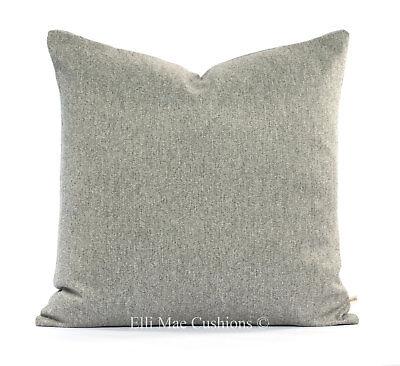 Luxury Herringbone Fabric - Luxury Designer Grey Herringbone Fabric Cushion Cover Throw Pillow Cover