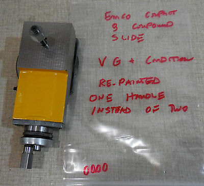 Emco Compact 8 Lathe Compound Slide Inch Based  0000