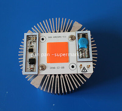50w Full Spectrum High Power Led Chip Built-in Driver 380nm-840nm Heat Sink