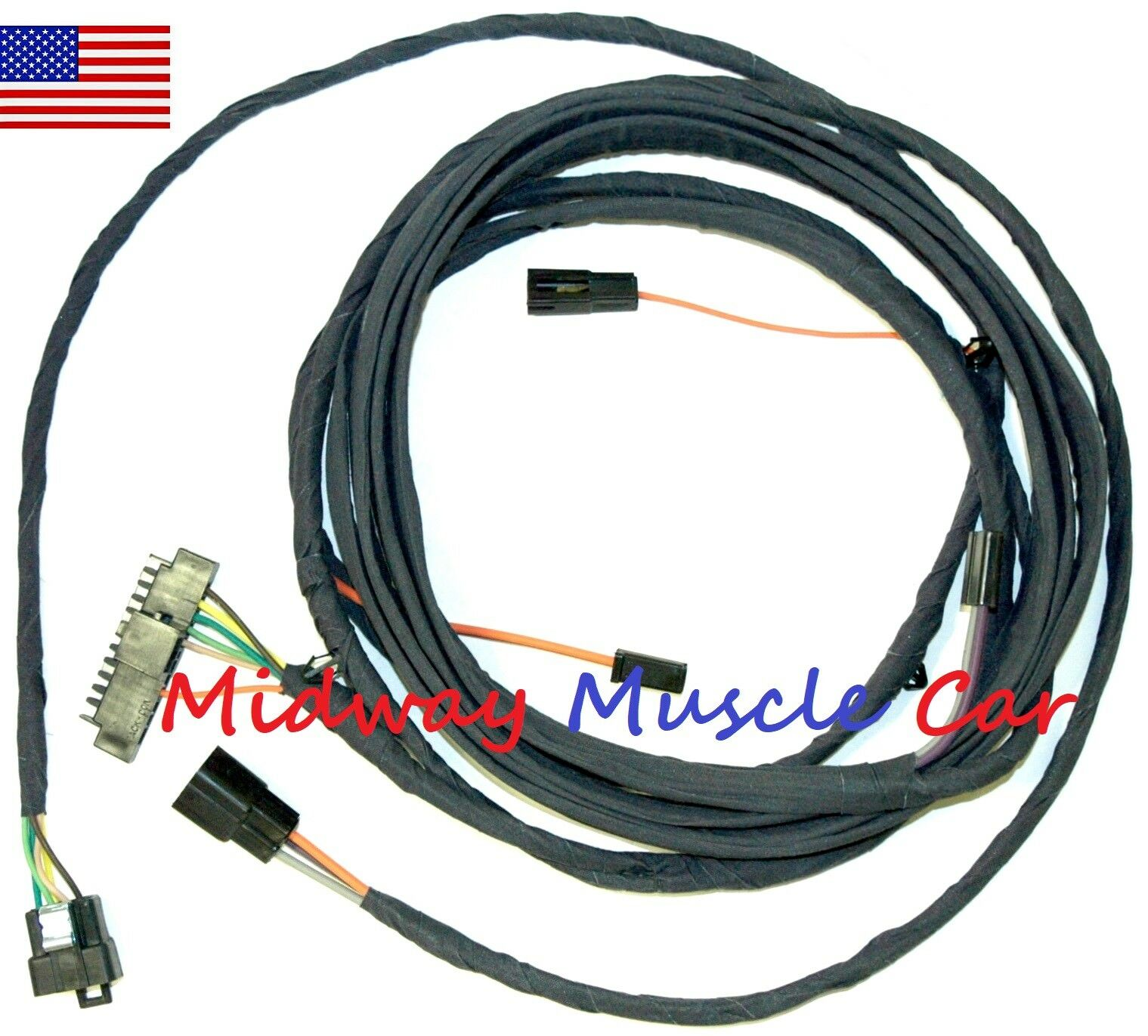 rear body intermediate wiring harness 70 71 72 Chevy Chevelle Convertible