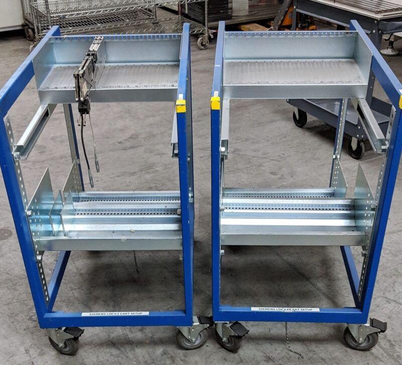 BLISS Siemens ASM S Shultz Series feeder kitting / set up cart