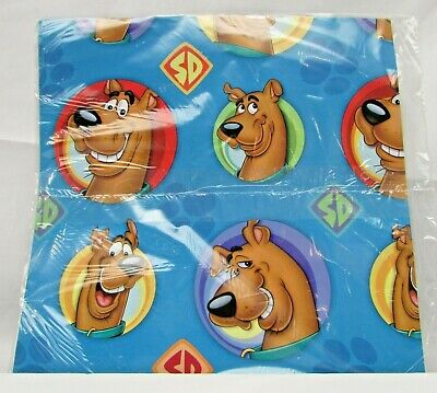 Vintage Hanna Barbera Scooby Doo Collectible Gift Wrap Paper, NEW