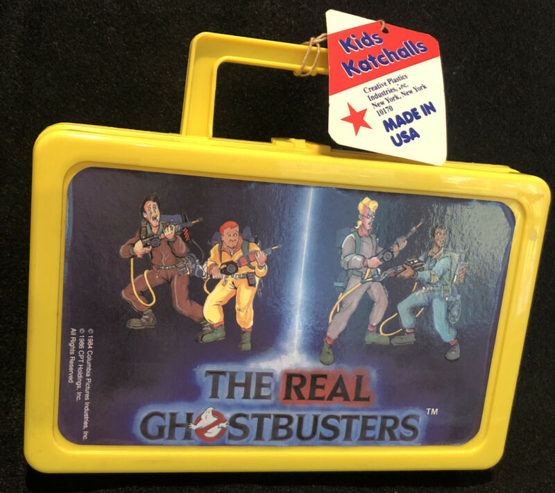 Real Ghostbusters Vintage Pencil Box Case Kids Katchalls 1984 New Old Stock