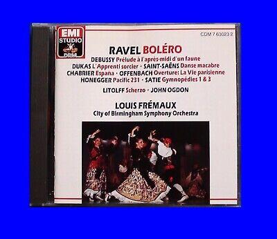 Louis Fremaux EMI CDM-7630232 Ravel Boléro  No ifpi  UK 1990 CD TAS