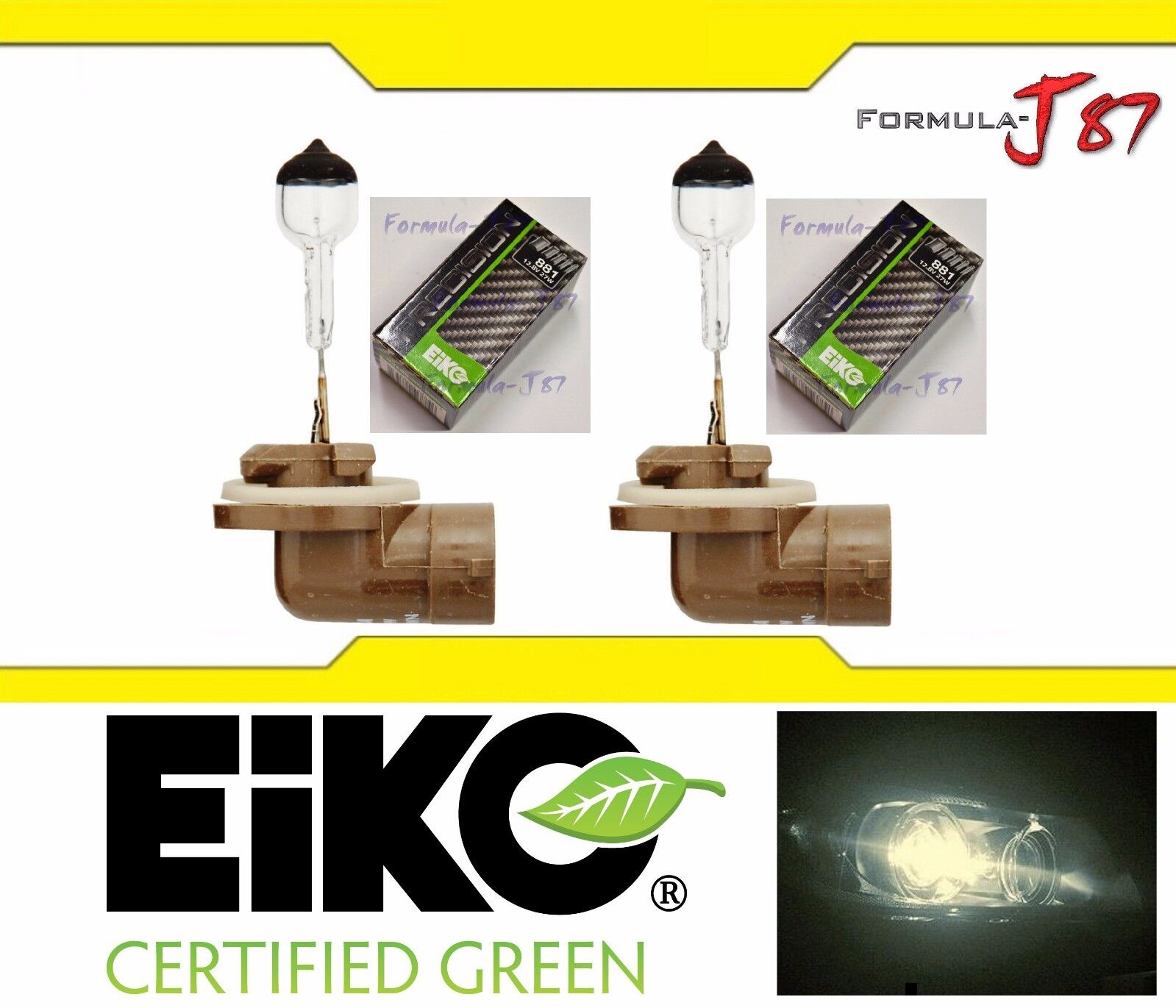 Eiko Precision Germany 881 Two Bulbs Head Light Replacement Snowmobile Lamp