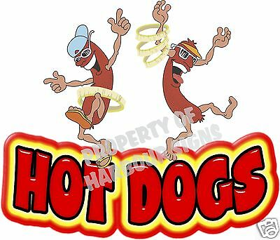 Hot Dogs Decal 14 Hotdog Concession Food Truck Cart Vinyl Menu Sticker