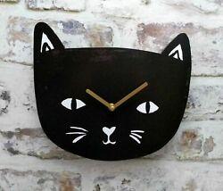 THE CAT LOVERS WALL CLOCK BLACK CAT KITTEN QUARTZ