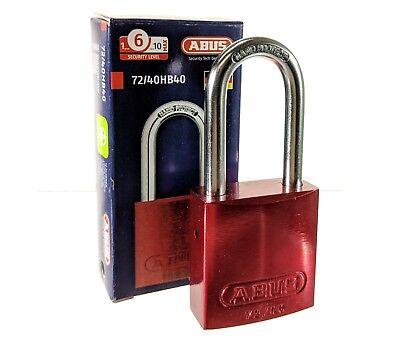 Abus 7240hb40 Red Padlock Alumium Lockout Jobsite Tools Pelican Storage Box