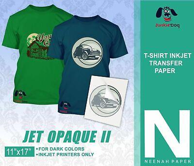 Neenah Jet Opaque Ii 11 X 17 Inkjet Dark Transfer Paper Dark Colors -20 Sheets