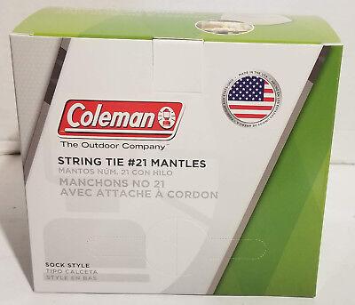 BRAND NEW 100 COLEMAN LANTERN MANTLES #21 STRING TIE 50 PACKS OF 2 (FULL BOX)