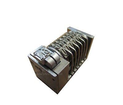 Leibinger Letterpress Numbering Machine 6 Digit Backward Heidelberg Roman Font