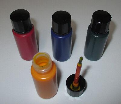 [1l = 249€] Glühbirnenfarbe, Tauchlack je 10ml gelb-blau-rot-grün   NEU