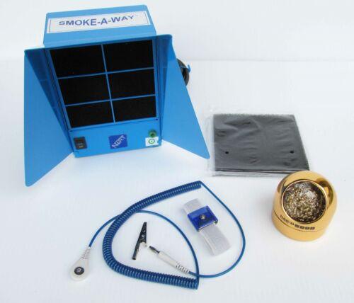 Hakko Nart Desco Benchtop Solder Fume Extractor Tip Cleaner Wrist Strap Kit