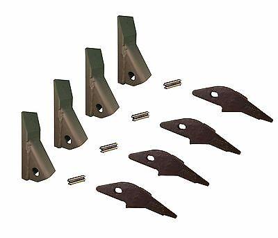 4 - Skid Steer Flush Mount Bucket Shank 230 Fab Teeth W Pins 2300fl 23f