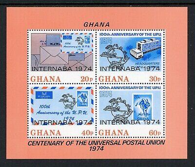 Ghana Scott #515A MNH S/S of 4 UPU Centenary $$