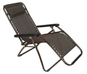 2 x Bronze Lounge Chairs - Patio Outdoor Garden Yard Beach Carava Melbourne CBD Melbourne City Preview