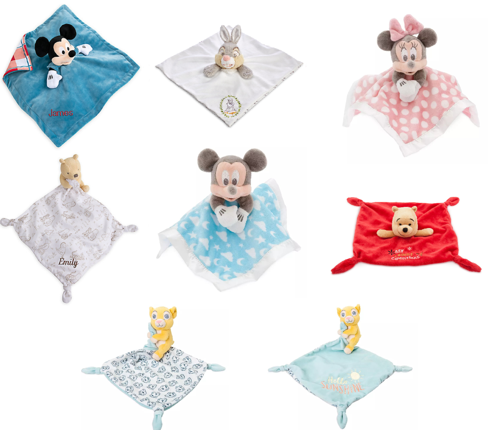 Disney Store Plush Toy Blankie for Baby Thumper Mickey Mouse
